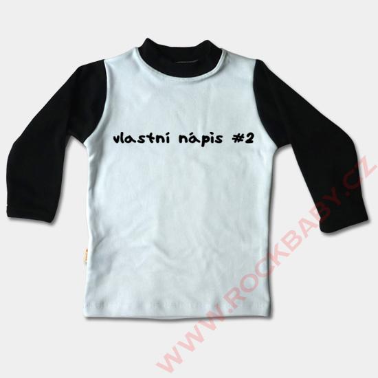 ca0e2be1bcc8 Detské tričko dlhý rukáv - Vlastný nápis2 ...