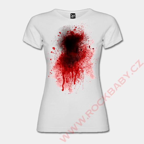 Dámske tričko - Krv  5f3fd56b8af