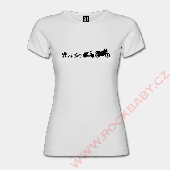 aa88322faa01 Dámské tričko - Moto Evolution