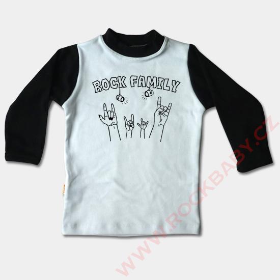 373ed55c01dc Dětské tričko dlouhý rukáv - Rock Family