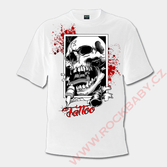 ... Pánské tričko - Lebka tattoo ... e6c667aee2