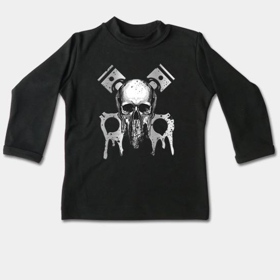 48ab8fb2c6a0 Detské tričko dlhý rukáv - Lebka a piesty
